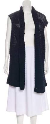 Tess Giberson Sleeveless Open Front Cardigan