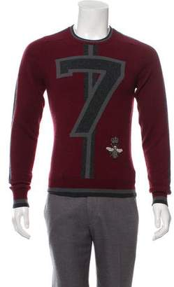 Dolce & Gabbana Bee-Embroidered Crew Neck Sweater