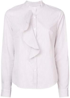 Derek Lam 10 Crosby Long Sleeve Button-Down Shirt with Cascade Ruffle