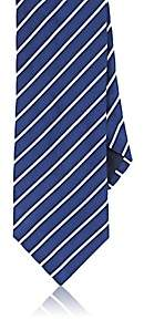 Barneys New York MEN'S DIAGONAL-STRIPED SILK-COTTON NECKTIE