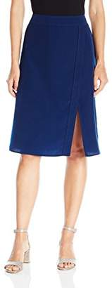 Paris Sunday Women's Midi Front Slit Skirt