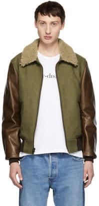 Schott Green and Brown B-15 Jacket