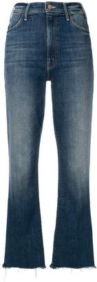 Mother loose fitted cropped jeans