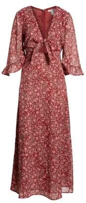 Amuse Society Besos Besos Baby Knot Front Maxi Dress