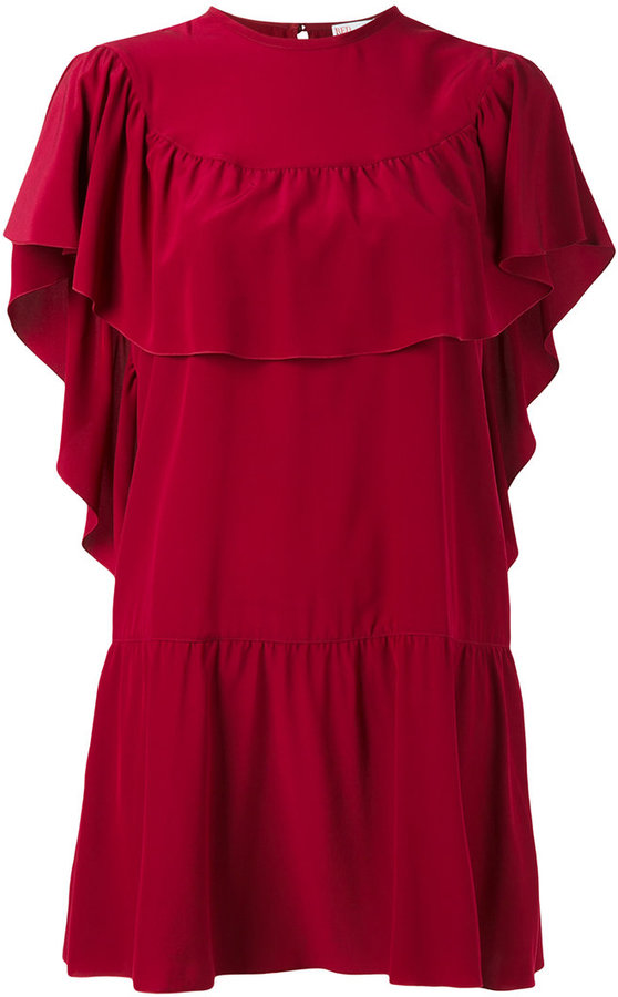 RED Valentino Red Valentino Crepe de chine mini dress