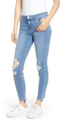 Paige Transcend - Verdugo Ripped Undone Hem Ankle Skinny Jeans