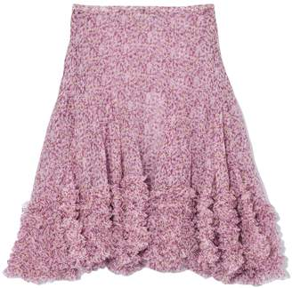 Stella McCartney Sandra Silk Crinkle Skirt in Multicolor Violet