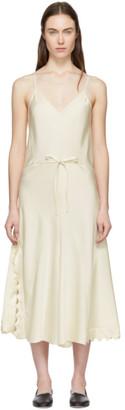 Chloé Beige Silk Satin Crepe Dress