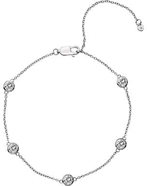 Hot Diamonds White Topaz and Diamond Chain Bracelet, Silver