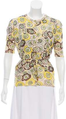 Gucci Sequined Floral Print Cardigan