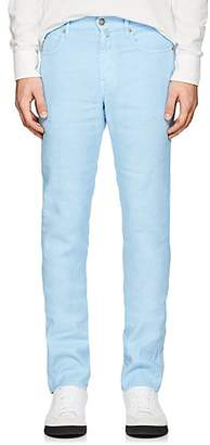 Incotex MEN'S RAY 5-POCKET LINEN-BLEND PANTS - BLUE SIZE 34