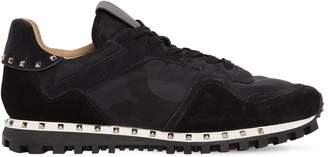 Valentino LOW TOP STUDDED LEATHER SNEAKERS