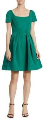Carolina Herrera Silk Faille Fit-&-Flare Dress