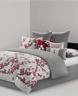 Natori N Cherry Blossom King 4 Piece Comforter Set Bedding