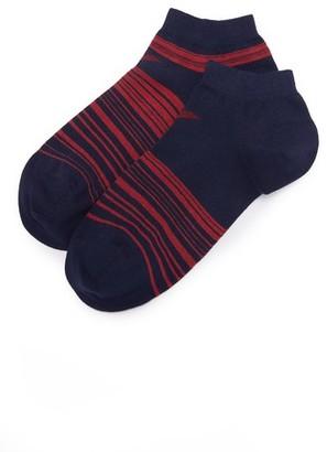 Emporio Armani 2 Pack Stretch Cotton Sneaker Socks $25 thestylecure.com