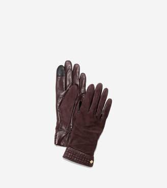 Cole Haan Braided Cuff Suede Gloves