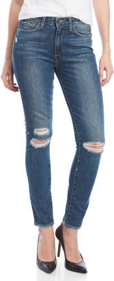 Paige Hoxton Destressed Ankle Peg Skinny Jeans