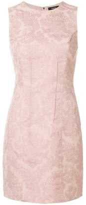 Theory embroidered fitted dress