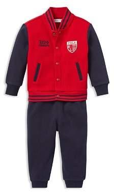 Ralph Lauren Boys' Baseball Jacket & Jogger Set - Baby