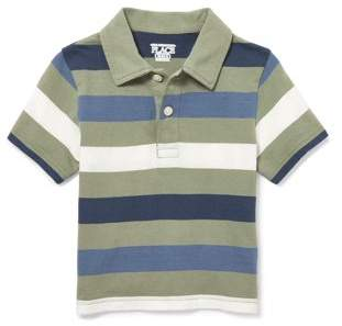 Children's Place The Short Sleeve Striped Polo Shirt (Toddler Boys)