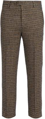 Missoni Mid-rise houndstooth wool trousers