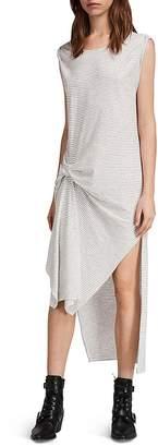 AllSaints Riviera Ida Striped T-Shirt Dress