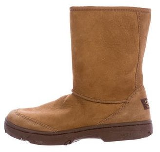 UGG Australia Suede Ankle Boots $130 thestylecure.com
