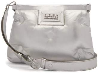 Maison Margiela Glam Slam Metallic Quilted Leather Cross Body Bag - Womens - Silver