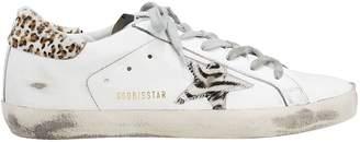 Golden Goose Superstar Zebra Star Low-Top Sneakers