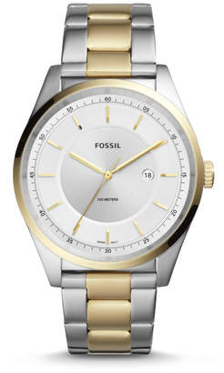 Fossil Mathis Three-Hand Date Two-Tone Stainless Steel Watch