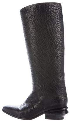 Alexander Wang Pointed-Toe Leather Boots