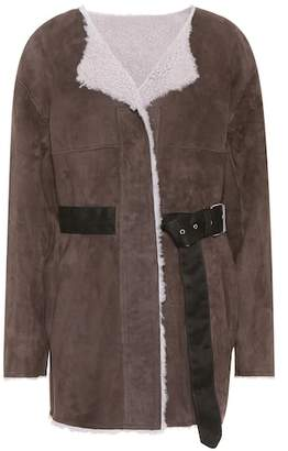 Isabel Marant Arsene shearling-lined suede jacket