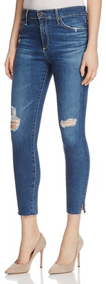 AG Farrah Skinny Ankle Jeans in Interim Destroyed $198 thestylecure.com