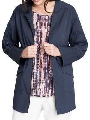 Nic+Zoe Snap-Sleeve Zip Jacket