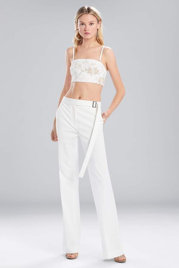 Josie Natori Bottom Weight Cotton High Waisted Pants