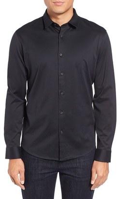 Men's Calibrate Trim Fit Knit Sport Shirt $75 thestylecure.com