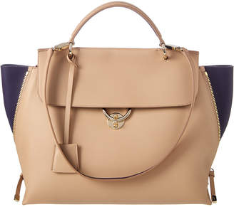 Salvatore Ferragamo Jet Set Large Leather Satchel