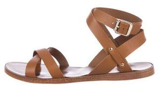 Barneys New York Barney's New York Leather Ankle Strap Sandals w/ Tags