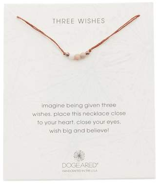 Dogeared Three Wishes Jasper Beaded Cord Necklace