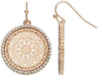 Lauren Conrad Openwork Medallion Drop Earrings