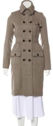 Proenza Schouler Wool-Blend Herringbone Coat