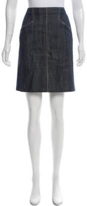 Alaia Denim Knee-Length Skirt