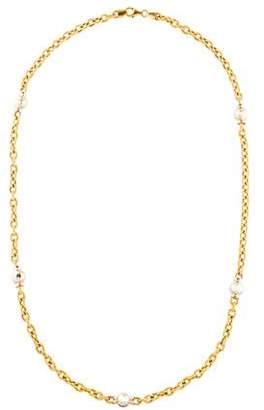 14K Two-Tone Station Necklace
