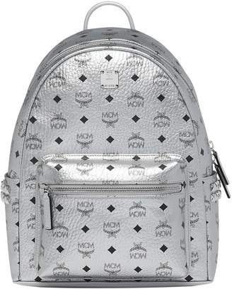 MCM Small Stark Side Stud Metallic Faux Leather Backpack
