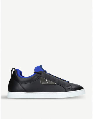 Fendi Monster leather trainers