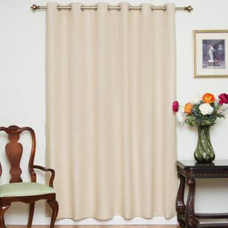 August Grove Balderas Nickel Solid Blackout Thermal Grommet Single Curtain Panel