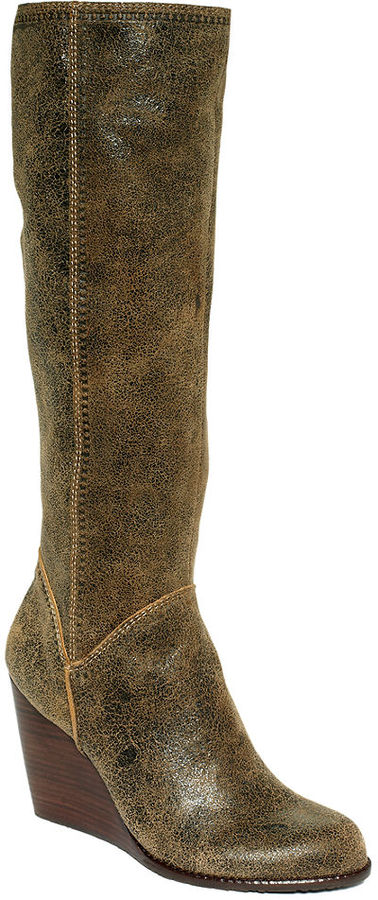 Fossil Shoes, Caroline Tall Wedge Boots