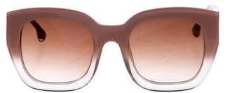 Alice + Olivia Tinted Oversize Sunglasses