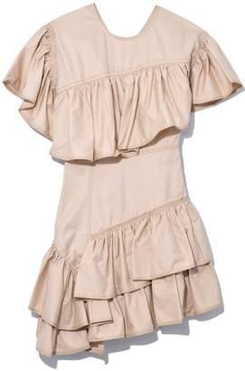 3.1 Phillip Lim Asymmetric Flamenco Dress in Nude