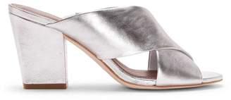 Donald J Pliner GILIAN, Crinkled Metallic Leather Heeled Sandal